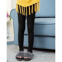 Quần legging bé gái lót lông đen trơn  TE1976