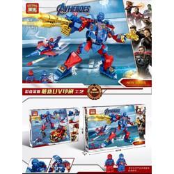Bộ lêgo lắp ráp siêu anh hùng Avengers 409 chi tiết mẫu mới nhất