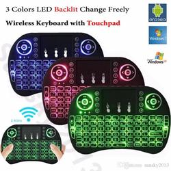 Bàn phím chuột không dây cho TIVI WIFI - LAPTOP PC - ĐIỆN THOẠI có đèn led đổi màu bấm FN + F2