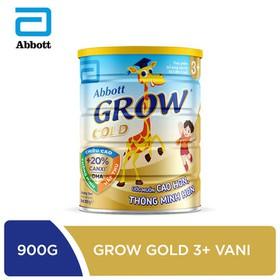 [Hà Nội] Sữa bột Abbott Grow Gold 3+ hương vani 900g - GRO016385
