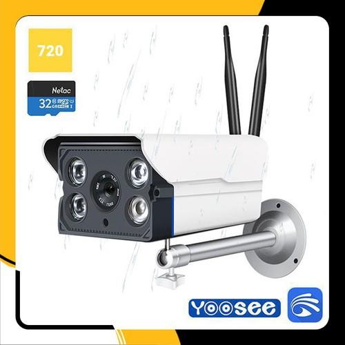 [ Tặng kèm thẻ nhớ Netac 32GB + Nguồn DC12V ] Camera IP wifi ngoài trời Yoosee không dây X5300 hồng ngoại quay đêm – BH 12T