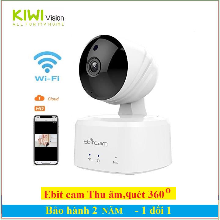Camera Ebitcam IP E2 wifi,720p,quay 360 độ,thu âm đàm thoại hai chiều,sám sát,an ninh,gia đình