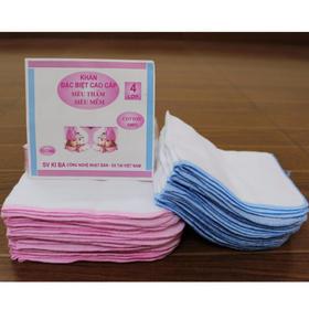 Khăn xô-khăn xô Kiba cho bé-gói 10 chiếc - khăn xô khăn sữa
