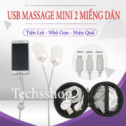 Máy massage xung điện mini - Usb massage trị liệu 2 miếng dán nhỏ gọn tiện lợi