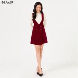 Chân váy yếm nhung LAMER