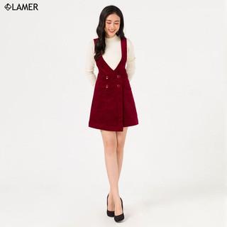 Chân váy yếm nhung LAMER - N62T19T003 thumbnail