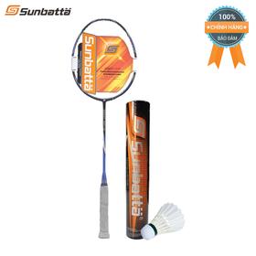 Combo vợt cầu lông Sunbatta SMART 5001III xanh đen sơn nhám và ống cầu lông thi đấu Sunbatta SU-30 dòng vợt 3U, dòng vợt 3U, dành cho người chơi có cổ tay khỏe, phù hợp người chơi nam, thích chơi tấn công - COMBO5001