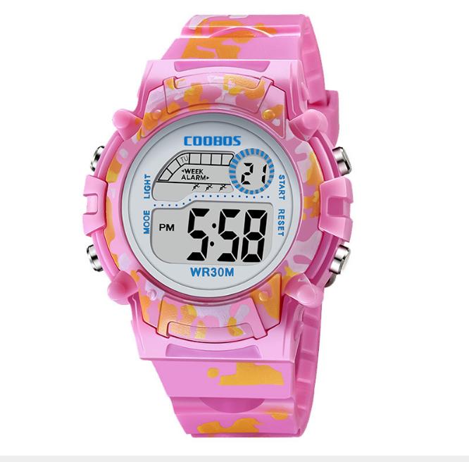 [MIỄN PHÍ GIAO HÀNG] Đồng hồ trẻ em đa chức năng kết hợp hiệu ứng đèn Lex 7 màu chính hãng Coobos - COOBOS 7