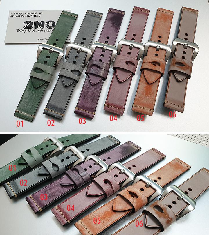 Dây da đồng hồ nam, da bò phong cách cá tính size 22mm và 24mm - D1918 - D1918 1