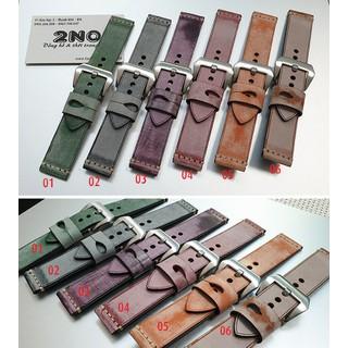 Dây da đồng hồ nam, da bò phong cách cá tính size 22mm và 24mm - D1918 - D1918 4