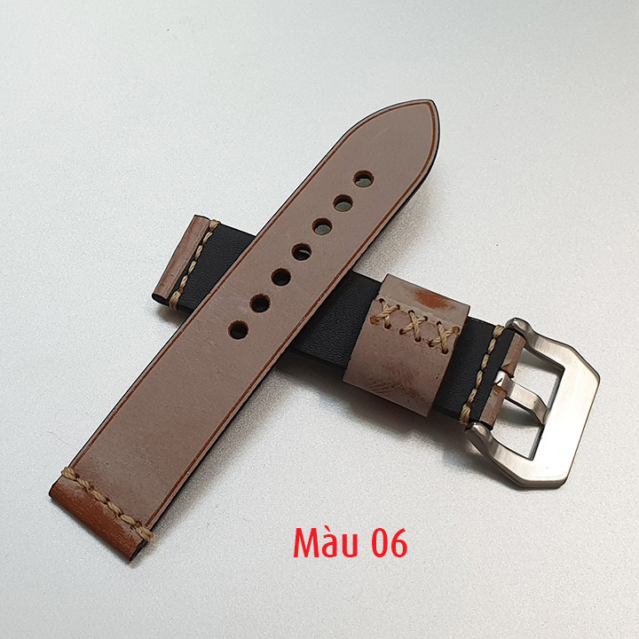 Dây da đồng hồ nam, da bò phong cách cá tính size 22mm và 24mm - D1918 - D1918 7