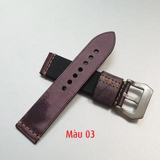 Dây da đồng hồ nam, da bò phong cách cá tính size 22mm và 24mm - D1918 - D1918 6
