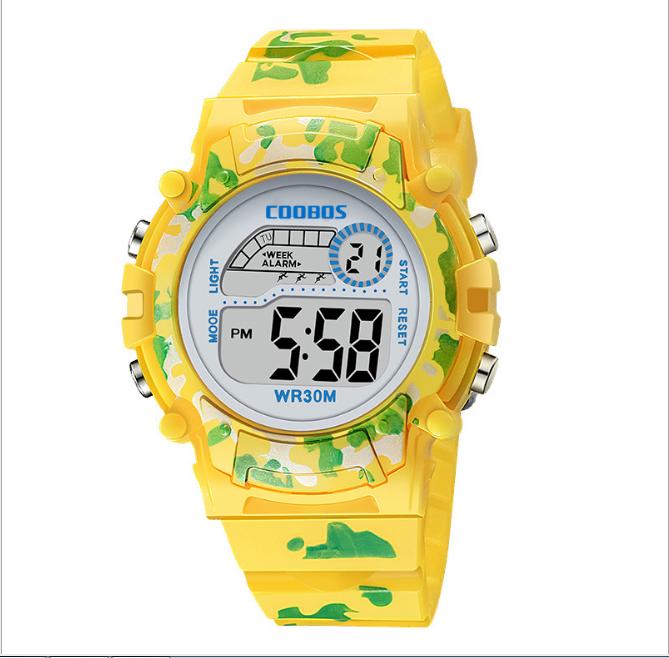 [MIỄN PHÍ GIAO HÀNG] Đồng hồ trẻ em đa chức năng kết hợp hiệu ứng đèn Lex 7 màu chính hãng Coobos - COOBOS 3