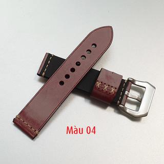 Dây da đồng hồ nam, da bò phong cách cá tính size 22mm và 24mm - D1918 - D1918 5