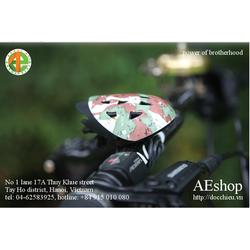 chuông xe đạp đồng hình mũ bảo hiểm rằn ri N+1 Taiwan