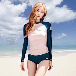 Bộ đồ bơi tắm biển bikini 2 mảnh phong cách Hàn Quốc dài tay DBG9 AK