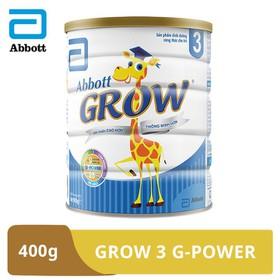 [Hà Nội] Sữa bột Abbott Grow 3 G-Power hương vani 400g - GRO016379