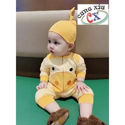 Quần áo trẻ em hình Heo vàng  cotton tay dài