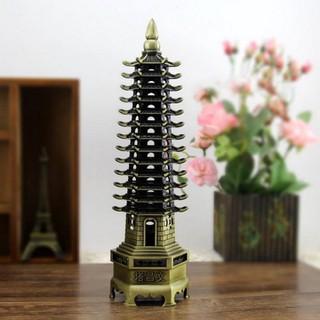 Mô hình tháp Văn Xương 13 tầng cao 32cm, trang trí bàn học, bàn làm việc - Màu vàng rêu cung cấp bởi winwinshop88 - MHTVX 13T 32cm vàng rêu thumbnail