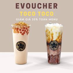 HCM [E-voucher] 24 chi nhánh Tocotoco giảm giá 35 phần trăm toàn menu