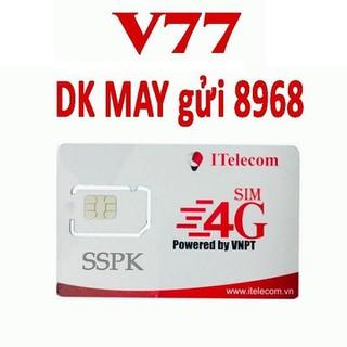 SIM 4G ITELECOM XÀI SÓNG VINA sim 4g sim itelecom sim data 3gb mỗi ngày - may giá rẻ may v77 thumbnail