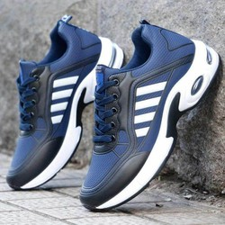 Giày thể thao nam Sport, giày Sneaker nam trẻ trung, 2 màu cực ngầu Xanh Blue và Xám Gray
