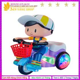 Đồ chơi em bé đi xe đạp xoay 360 độ-Đồ chơi phát nhạc - Bé đi xe đạp
