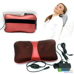 Gối massage 6 bi cao cấp - Gối matxa hồng ngoại thế hệ mới