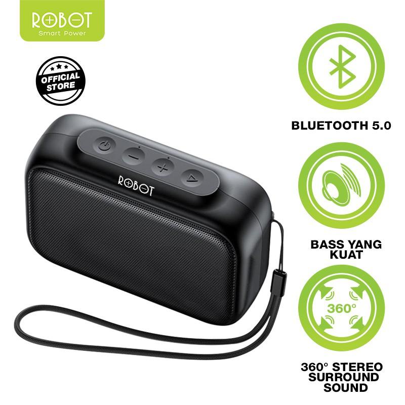 Loa Bluetooth 5.0 Robot RB100, Sạc nhanh 2H, sử dụng lên đến 10H - Hàng chính hãng - BẢO HÀNH 1 ĐỔI 1