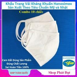 [Combo 10 cái] Khẩu trang kháng khuẩn diệt khuẩn Vinatex tái sử dụng khoảng 30 lần giặt Dệt kim Đồng Xuân
