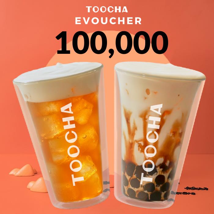 Toàn Quốc - TOOCHA - Evoucher 100K Áp dụng toàn menu