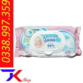 Khăn Giấy Ướt BOBBY Nắp Nhựa 100 Tờ - kt4561