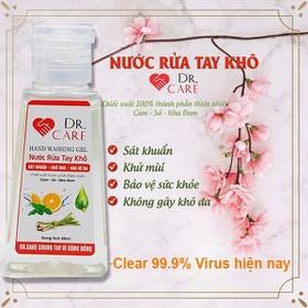 🚚[ Phòng được 99,99 virus Corona ] Gel nước rửa tay khô sát khuẩn Dr Care mẫu mới rất an toàn mà không gây khô da chai 50ml, HSD đến năm 2024 - dr care
