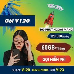 Sim Dcom 3G 4G Viettel V120 - Vào Mạng Thả Ga- Gọi Điện Thoải Mái