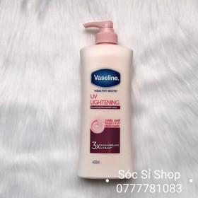 Sữa dưỡng thể trắng hồng Vaseline Healthy White UV Lightening 400ml - Thái Lan - Vaseline 3X 400ml