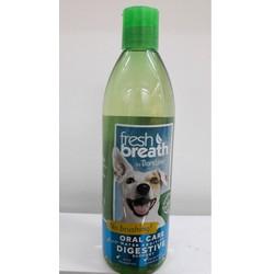 Fresh Breath Oral Care Water Additive Digestive Support 16 oz. Dung dịch chăm sóc răng miệng hằng ngày và tăng cường sức khỏe hệ tiêu hóa cho chó và mèo.