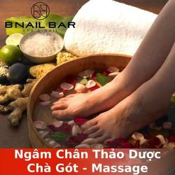 [Evoucher_Quận 1_HCM] Ngâm Chân Thảo Dược - Chà Gót - Massage 15 Phút Tại B Nail Bar