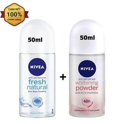 Combo 2 chai lăn khử mùi Nivea hàng nhập khẩu 50ml-chai