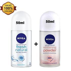 Combo 2 chai lăn khử mùi Nivea hàng nhập khẩu 50ml-chai - 2 Lăn Khử mùi Nivea 50ml