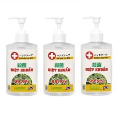 Bộ 3 chai nước rửa tay khô diệt khuẩn an toàn Mr. Fresh 500ml Hương Xả - dạng gel
