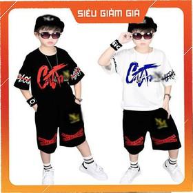 COMBO 2bộ quần áo trẻ em mẫu CAT dành cho bé trai 6-10 tuổi. Chất vải đẹp, thấm hút mồ hôi - COMBO 2b CAT