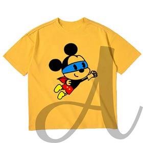 áo thun bé trai in hinh chú chuột siêu nhân cực để thương - áo thun chuột siêu nhân BB13