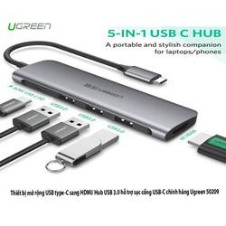 Cáp USB Type C sang HDMI, USB 3.0 Ugreen 50209