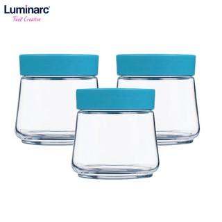 Combo 3 Hũ thủy tinh Luminarc Swing P5279 nắp xanh 500ml - 2054884 thumbnail