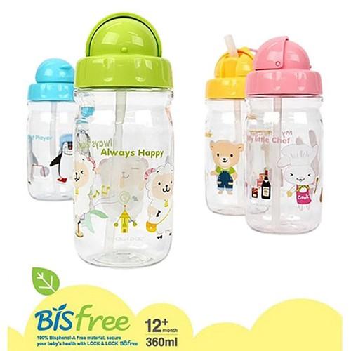 Bình nước lock & lock 360ml quà tặng từ friso - bình nước em bé có ống hút