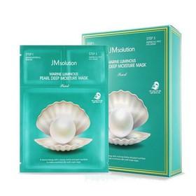 [Hỗ Trợ Phí Vận Chuyển Cho Đơn Hàng Từ 69k ]ComBo 5 Miếng Mặt Nạ Ngọc Trai JMsolution Marine luminous pearl deep moisture Mask Trắng Da - Hàn Quốc - MN25267