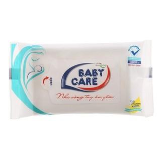 Khăn ướt Baby care 10 tờ - không mùi, kháng khuẩn - 8936072190214 thumbnail