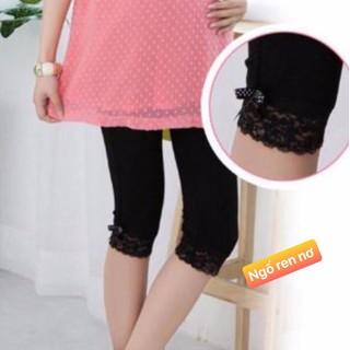 quần ngố bầu chân ren - qdba12 thumbnail