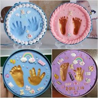 Bộ đồ chơi in dấu tay chân - khuôn in dấu tay chân-cho bé - bộ in dấu tay chân cho bé - in dấu vân tay vân chân thumbnail
