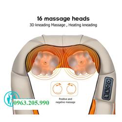 Máy massage giảm đau toàn thân hồng ngoại, đai mát xa vai cổ gáy xoa bóp ấn huyệt chính hãng Korea